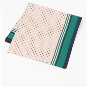 【組曲:ファッション雑貨】【シルク100%】グラフィカルパターンツイル スカーフ