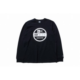 【ニューエラ公式】 長袖 コットン Tシャツ バイザーステッカー ブラック × ホワイト メンズ レディース Large 長袖 Tシャツ 11783069 NEW ERA