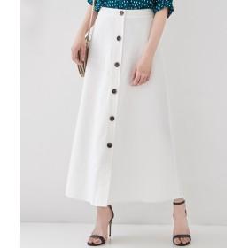 【オンワード】 ICB(アイシービー) Crust Linen スカート ホワイト 2 レディース 【送料無料】