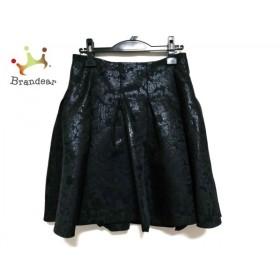 アドーア ADORE スカート サイズ38 M レディース 美品 黒 ラメ/花柄    値下げ 20191115