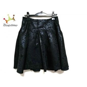 アドーア ADORE スカート サイズ38 M レディース 美品 黒 ラメ/花柄 スペシャル特価 20190806