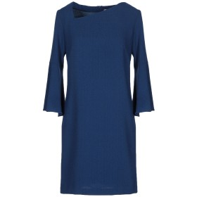 《セール開催中》BIANCOGHIACCIO レディース ミニワンピース&ドレス ブルー 40 ポリエステル 96% / ポリウレタン 4%
