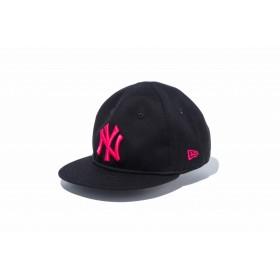 【ニューエラ公式】キッズ My 1st 9FIFTY ニューヨーク・ヤンキース ブラック × ストロベリー 男の子 女の子 48.3 - 50.1cm MLB キャップ 帽子 12018910 NEW ERA