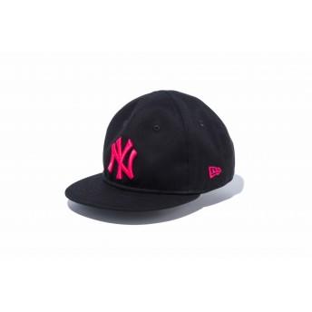 NEW ERA ニューエラ キッズ My 1st 9FIFTY ニューヨーク・ヤンキース ブラック × ストロベリー スナップバックキャップ アジャスタブル サイズ調整可能 ベースボールキャップ キャップ 帽子 男の子 女の子 48.3 - 50.1cm 12018910 NEWERA