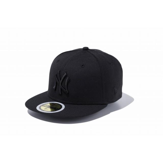 【ニューエラ公式】キッズ 59FIFTY ニューヨーク・ヤンキース ブラック × ブラック 男の子 女の子 6 1/2 (52cm) MLB キャップ 帽子 11434029 NEW ERA