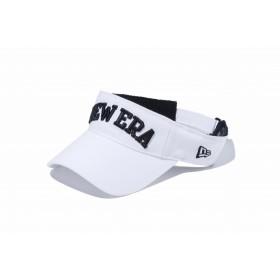 【ニューエラ公式】 ゴルフ サンバイザー NEW ERA ホワイト × ブラック メンズ レディース 55.8 - 59.6cm キャップ 帽子 11598163 NEW ERA