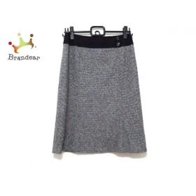 ニジュウサンク 23区 スカート サイズ38 M レディース 美品 グレー×ライトグレー×黒 新着 20190527