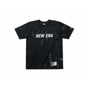 【ニューエラ公式】 メッシュ Tシャツ NEW ERA ワードマーク ブラック × ホワイト メンズ レディース Medium 半袖 Tシャツ 11901365 NEW ERA