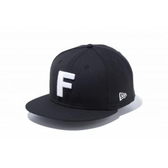 NEW ERA ニューエラ 9FIFTY アルファベット F ブラック × ホワイト スナップバックキャップ アジャスタブル サイズ調整可能 ベースボールキャップ キャップ 帽子 メンズ レディース 57.7 - 61.5cm 12026690 NEWERA