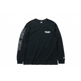 【ニューエラ公式】 長袖 コットン Tシャツ ニューエラ キャップ カンパニー シーン 1920 ブラック × ホワイト メンズ レディース Small 長袖 Tシャツ 11900249 NEW ERA