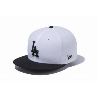 9FIFTY ロサンゼルス・ドジャース ホワイト × ブラック ブラックバイザー