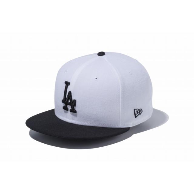 【ニューエラ公式】 9FIFTY ロサンゼルス・ドジャース ホワイト × ブラック ブラックバイザー メンズ レディース 57.7 - 61.5cm MLB キャップ 帽子 11433962 NEW ERA