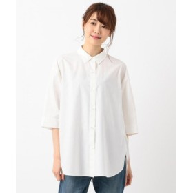 (SHARE PARK/シェアパーク)【洗える】バックギャザーシャツ半袖 シャツ/レディース ホワイト系 送料無料