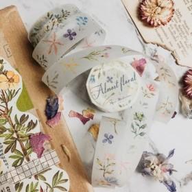そして紙 - 小さな花びらテープ - 特殊油