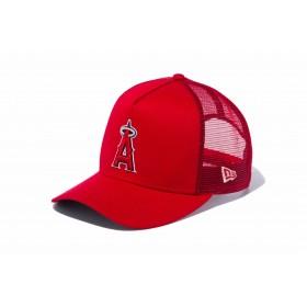 【ニューエラ公式】 9FORTY D-Frame トラッカー ロサンゼルス・エンゼルス レッド × チームカラー メンズ レディース 55.8 - 59.6cm MLB キャップ 帽子 12020351 NEW ERA メッシュキャップ