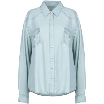 《期間限定セール開催中!》RYAN MICHAEL レディース デニムシャツ ブルー XL 指定外繊維(テンセル) 100%