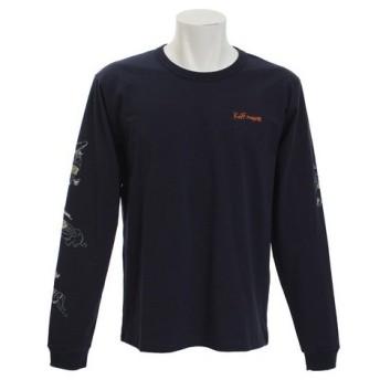 クリフメイヤー(KRIFF MAYER) 袖プリント長袖Tシャツ SEA 1743100-4-NVY (Men's)