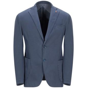 《期間限定セール開催中!》JERRY KEY メンズ テーラードジャケット ブルーグレー 44 コットン 97% / ポリウレタン 3%