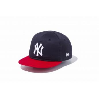 NEW ERA ニューエラ キッズ My 1st 9FIFTY ニューヨーク・ヤンキース ネイビー × ホワイト スカーレットバイザー スナップバックキャップ アジャスタブル サイズ調整可能 ベースボールキャップ キャップ 帽子 男の子 女の子 48.3 - 50.1cm 11433918 NEWERA