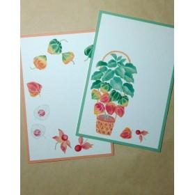 鬼灯(ほおずき)の季節ポストカード