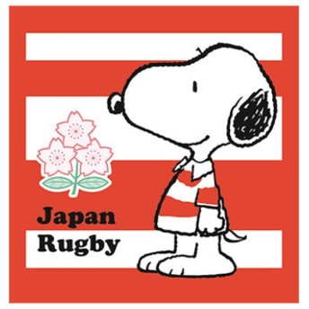 ラグビー 日本代表 2019 バラエティグッズ ウォッシュタオル スヌーピー×日本代表 第1弾 2274-89796