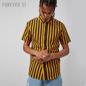 FOREVER21 フォーエバー21 【[MEN]コットンストライプシャツ】(5,000円以上購入で送料無料)