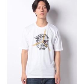 (SISLEY/シスレー)グラフィックスレギュラー半袖Tシャツ/メンズ ホワイト系その他