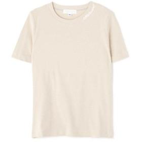 【37%OFF】 ジルスチュアート With4月号掲載ネックロゴTシャツ レディース BEIGE FR 【JILLSTUART】 【タイムセール開催中】
