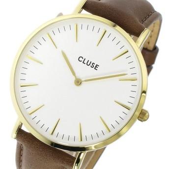 クルース CLUSE ラ・ボエーム レザーベルト 38mm レディース 腕時計 CL18408 ホワイト/ブラウン ホワイト