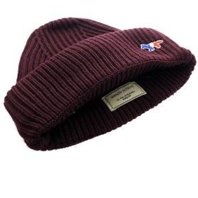 メゾンキツネ MAISON KITSUNE ニット帽 メンズ レディース BU06120BT3505-BU バーガンディー