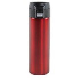 水筒 直飲み 保冷 保温 マグボトル ステンレス スリム ワンタッチマグボトル 300ml レッド