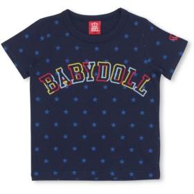 Tシャツ - BABYDOLL チェーン 刺繍 ロゴ Tシャツ 2630K ベビードール BABYDOLL 子供服 ベビー キッズ 男の子 女の子
