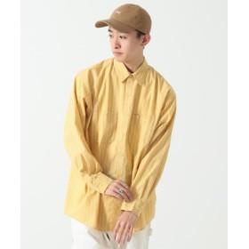 (BEAMS MEN/ビームス メン)BEAMS/ストライプ ワークシャツ/メンズ YELLOW 送料無料