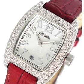 フォリフォリ FOLLI FOLL クオーツ レディース 腕時計 S922ZI-DARKRD ホワイトシルバー ホワイト