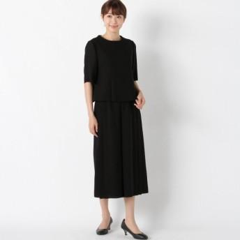 フォーマル レディース 喪服 礼服 ブラックフォーマル スーツ フォーマル2点セットパンツスーツ【喪服・礼服】 「ブラック」