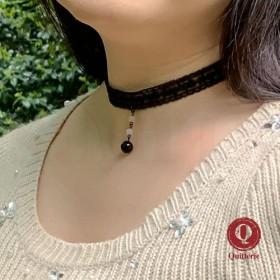 Black lace & stone T