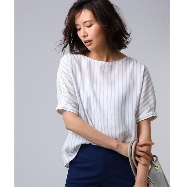UNTITLED / アンタイトル 【洗える】クルーズストライプスクエアシャツ