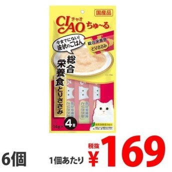 いなば CIAO ちゅ〜る 総合栄養食 とりささみ (14g×4本)×6個 SC-148