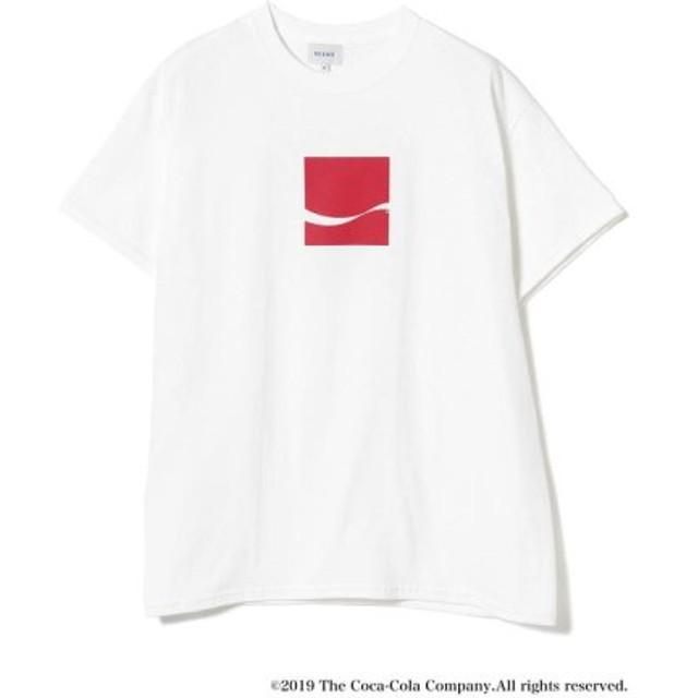 (BEAMS MEN/ビームス メン)Coca-Cola/Have a Good Day T-shirt/メンズ WHITE