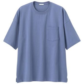 (GU)スーパービッグT(5分袖) BLUE XS
