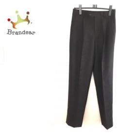 ランバンコレクション パンツ サイズ76 メンズ 美品 黒×ダークブラウン ストライプ   スペシャル特価 20190911