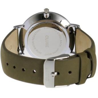 クルース CLUSE ラ・ボエーム レザーベルト 38mm レディース 腕時計 CL18228 ブラック/オリーブグリーン ブラック