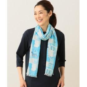 【オンワード】 JANE MORE(ジェーン モア) 【アンダー1万円!】ブロックストライプストール ターコイズブルー F レディース 【送料無料】