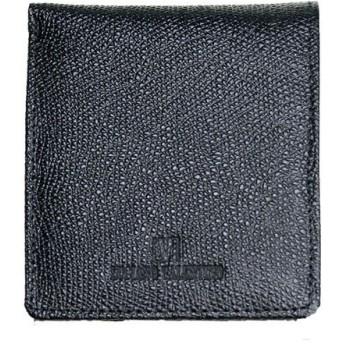 ルチアーノ バレンチノ LUCIANO VALENTINO 二つ折財布 短財布 牛革 メンズ LUV-9002-BK ブラック ブラック