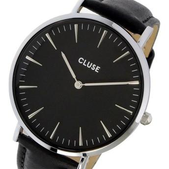 クルース CLUSE ラ・ボエーム レザーベルト 38mm レディース 腕時計 CL18201 ブラック/ブラック ブラック