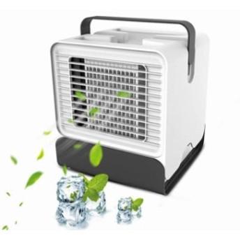2019年版強化版クーラー]冷風機 扇風機 卓上冷風扇 ギフトUSB給電式 冷却 加湿 空気清浄 LED搭載 夜間ライト 熱中症対策 涼しい自然風 小