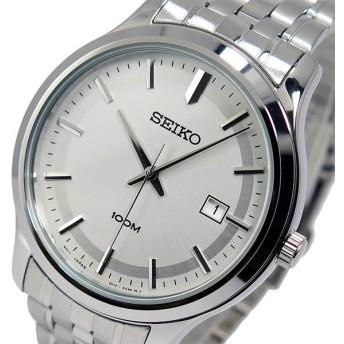 セイコー SEIKO クオーツ メンズ 腕時計 SUR141P1 シルバー シルバー