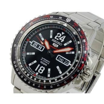 セイコー ファイブ SEIKO 5 スポーツ 自動巻き 腕時計 SRP353J1 ブラック