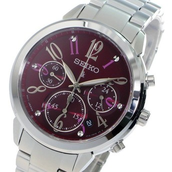 セイコー SEIKO クロノ ルキア クオーツ レディース 腕時計 SRW821P1 レッド レッド
