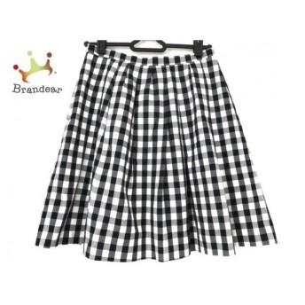 アプワイザーリッシェ Apuweiser-riche スカート サイズ0 XS レディース 美品 白×黒 チェック柄 スペシャル特価 20190909